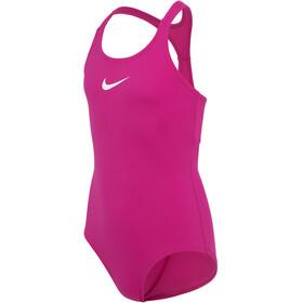Nike Swim Essential Racerback One Piece Swimsuit Girls wild berry